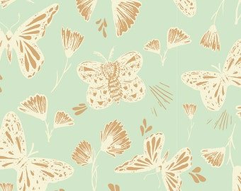 Hello, Ollie by Art Gallery Fabrics - Sweetly Sings Golden - Organic Cotton Woven Fabric