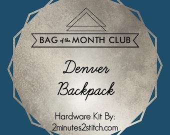 Denver Backpack - Bag of the Month Club - Swoon Patterns - 2018 Hardware Kit