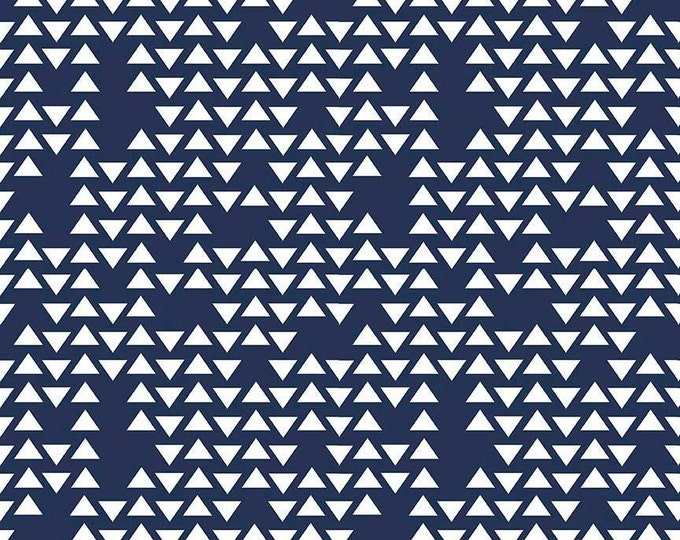 Feathers Arrows & Triangles by Riley Blake - Triangles Navy - Cotton Woven Fabric