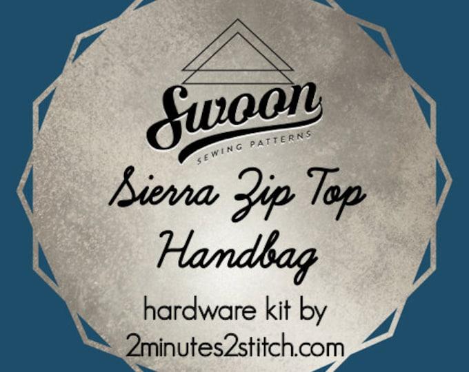 Sierra Zip Top Handbag - Swoon Patterns - Hardware Kit by 2 Minutes 2 Stitch