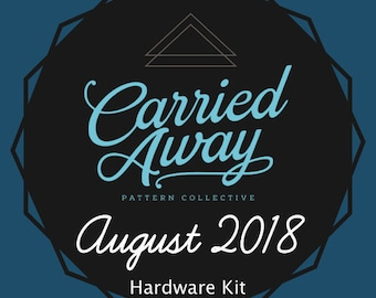 Carried Away Pattern Collective - August 2018 Hardware Kit - Swoon Patterns - Blue Calla Patterns