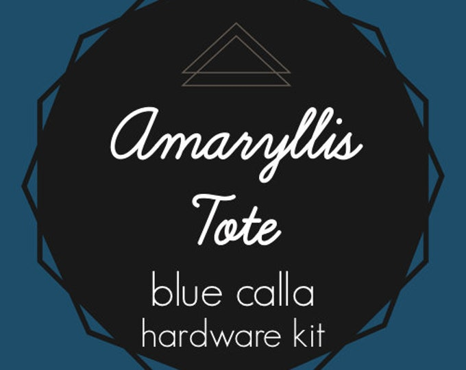 Amaryllis Tote - Blue Calla Hardware Kit - Swivel Clips, D-Rings