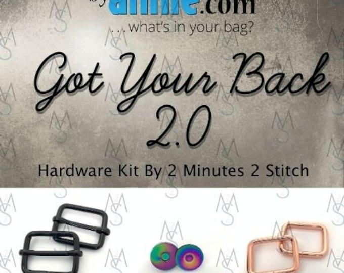 Got Your Back 2.0 - ByAnnie - Hardware Kit by 2 Minutes 2 Stitch