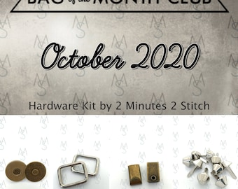 The Bellezza Tote & Handbag - Bag of the Month Club - October 2020 Hardware Kit - Bagstock Designs