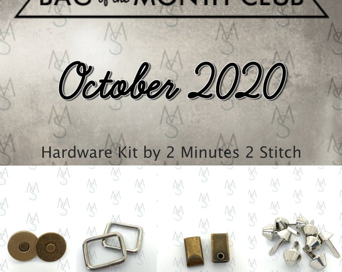 Bag of the Month Club - October 2020 Hardware Kit - Bagstock Designs