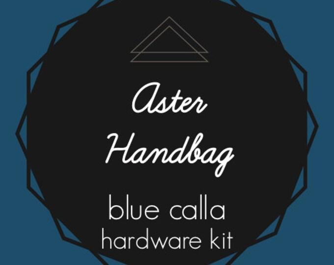Aster Handbag - Blue Calla Hardware Kit - Swivel Clips, D-Rings