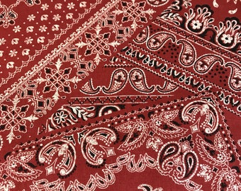 Kokka - Bandana Brick Red - Cotton Woven