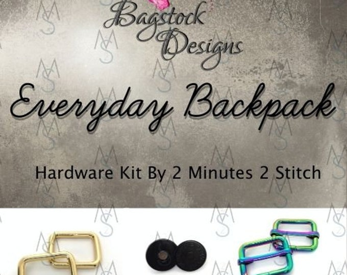 Everyday Backpack - BagStock Designs - Hardware Kit Only