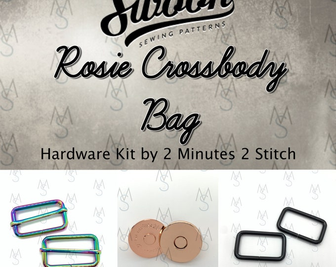 Rosie Crossbody Bag - Swoon Patterns - Swoon Hardware Kit - Rosie Hardware - Bag Hardware Kit - by 2 Minutes 2 Stitch
