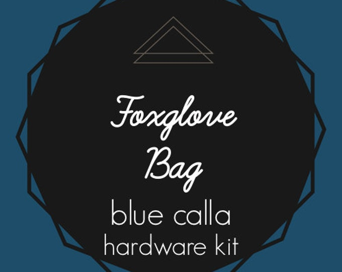 Foxglove Bag - Blue Calla Hardware Kit - Swivel Clips, D-Rings