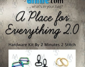 A Place For Everything 2.0 - ByAnnie - Hardware Kit by 2 Minutes 2 Stitch