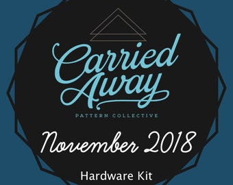 Carried Away Pattern Collective - November 2018 Hardware Kit - Swoon Patterns - Blue Calla Patterns