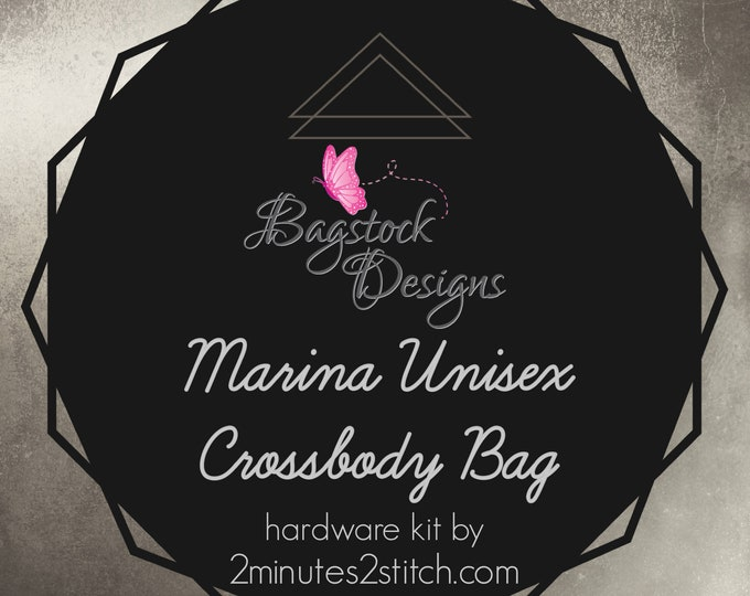 Marina Unisex Crossbody Bag - Bagstock Designs - Hardware Kit Only
