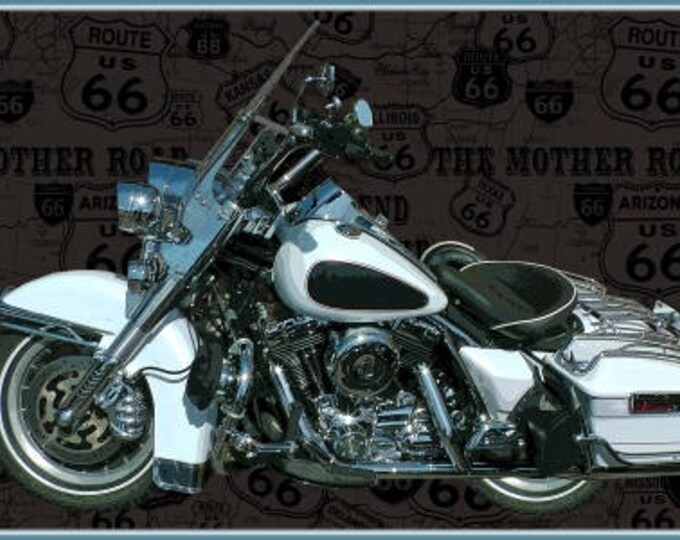 American Dream by Blank Quilting - Motorcycle Panel - 24 Inch - Cotton Woven Fabric