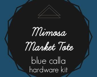 Mimosa Market Tote - Blue Calla Hardware Kit - Swivel Clips, D-Rings