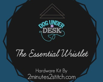 The Essential Wristlet - Dog Under My Desk - Hardware Kit