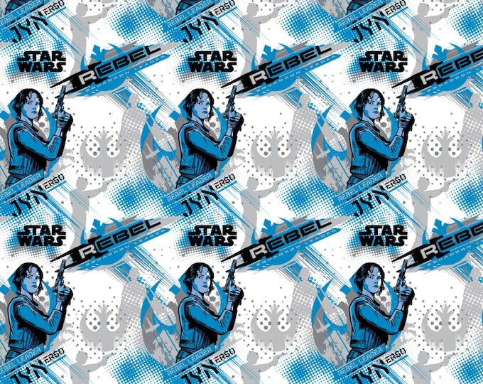 Star Wars Rogue One Collection by Camelot - Blue Star Wars Jyn Erso - Cotton Woven Fabric