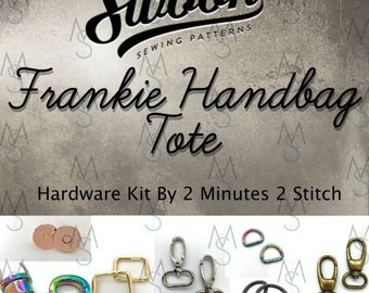 Frankie Handbag Tote - Swoon Patterns - Swoon Hardware Kit - Frankie Hardware - Bag Hardware Kit - 2 Minutes 2 Stitch