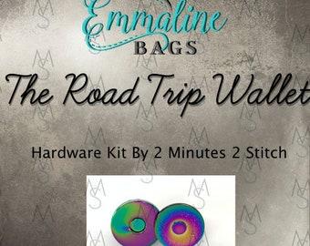 Road Trip Wallet - Emmaline Bags - Hardware Kit by 2 Minutes 2 Stitch