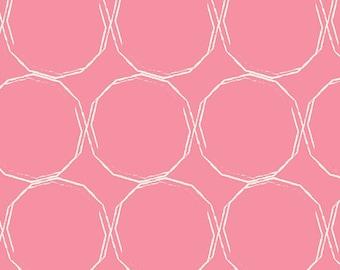 Essentials II by Pat Bravo for Art Gallery Fabrics - Hula Hoops Blush - Cotton Woven Fabric