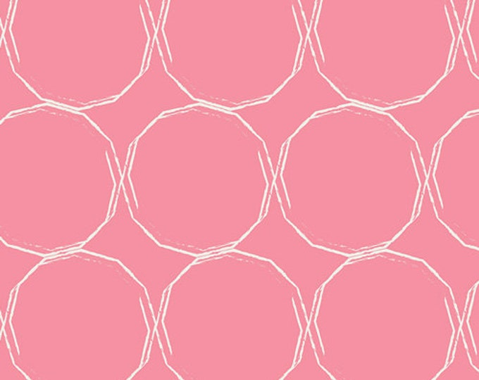 Essentials II by Pat Bravo for Art Gallery Fabrics - Hula Hoops Blush - Cotton Woven Fabric