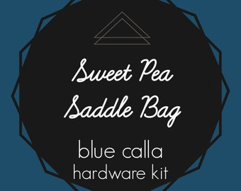 Sweet Pea Saddle Bag - Blue Calla Hardware Kit - Swivel Clips, D-Rings