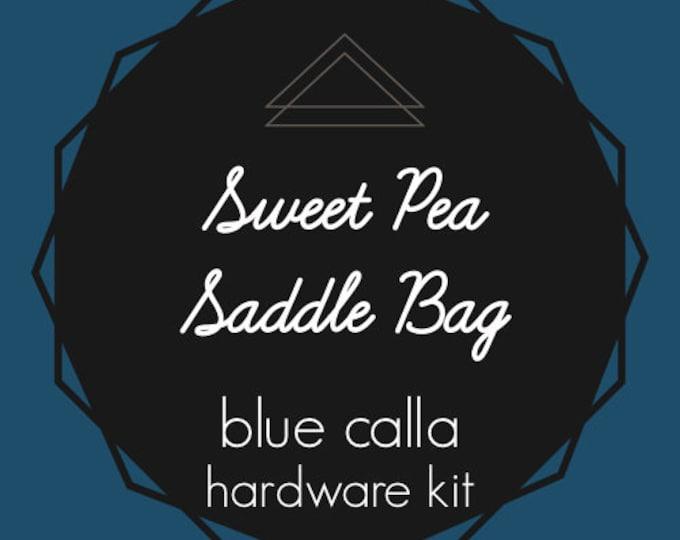 Sweet Pea Saddle Bag - Blue Calla Hardware Kit - Swivel Clips, D-Rings