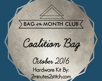 Coalition Bag Hardware Kit - Bag of the Month Club - Sew Sweetness - October 2016 Hardware Kit