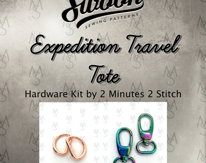 Expedition Travel Tote - Swoon Patterns - Swoon Hardware Kit - Expedition Hardware - Bag Hardware Kit - 2 Minutes 2 Stitch