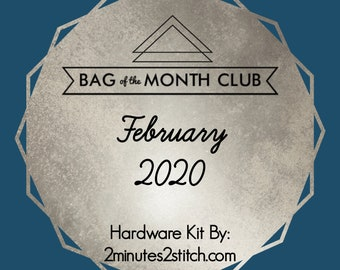 Layla Essentials Purse - Bag of the Month Club - February 2020 Hardware Kit - Andrie Designs - Bag Hardware - Clutch Hardware - Layla Kit
