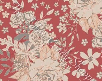 Soulful by Art Gallery Fabrics - Floral Universe Auburn - Cotton Woven Fabric