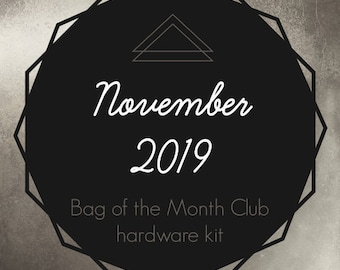 The Side Hustle - Bag of the Month Club - November 2019 Hardware Kit - Samantha Hussey - Sewing Patterns by Mrs H