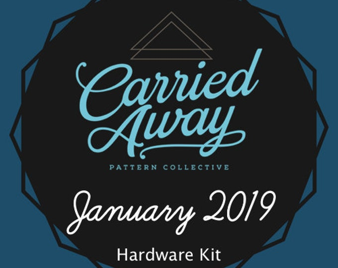 Carried Away Pattern Collective - January 2019 Hardware Kit - Swoon Patterns - Blue Calla Patterns
