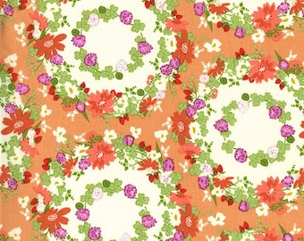 Strawberry Moon by Michael Miller - Clover Crown Peach - Cotton Woven Fabric