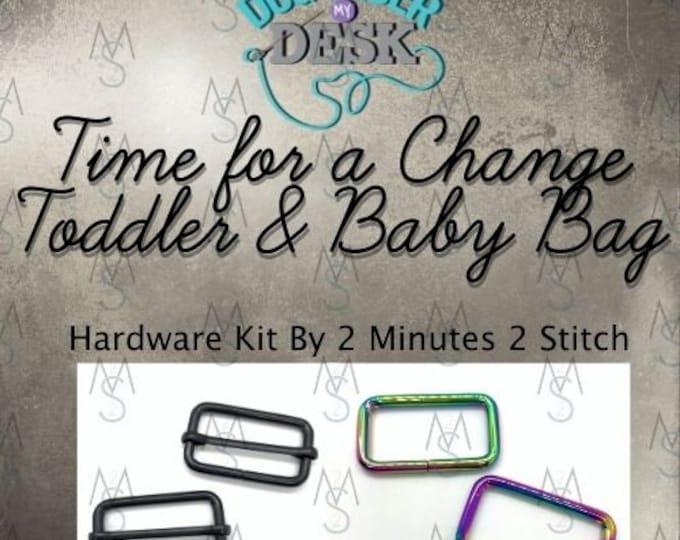 Time for a Change Toddler & Baby Bag - Dog Under My Desk Hardware Kit