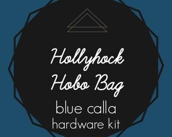 Hollyhock Hobo Bag - Blue Calla Hardware Kit - Swivel Clips, D-Rings