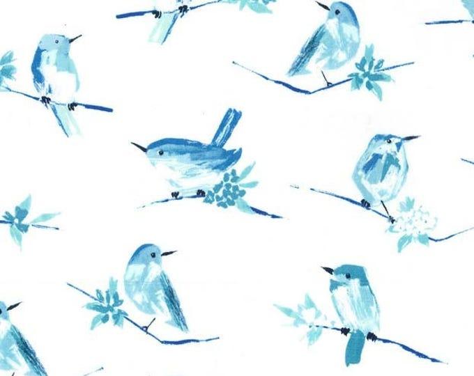 Butterfly Row by Michael Miller - Bird Watch Marine - Cotton Woven Fabric