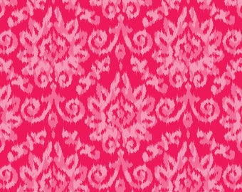Flower Power by Patrick Lose - Ikat Chenille Pink - Cotton Woven Fabric