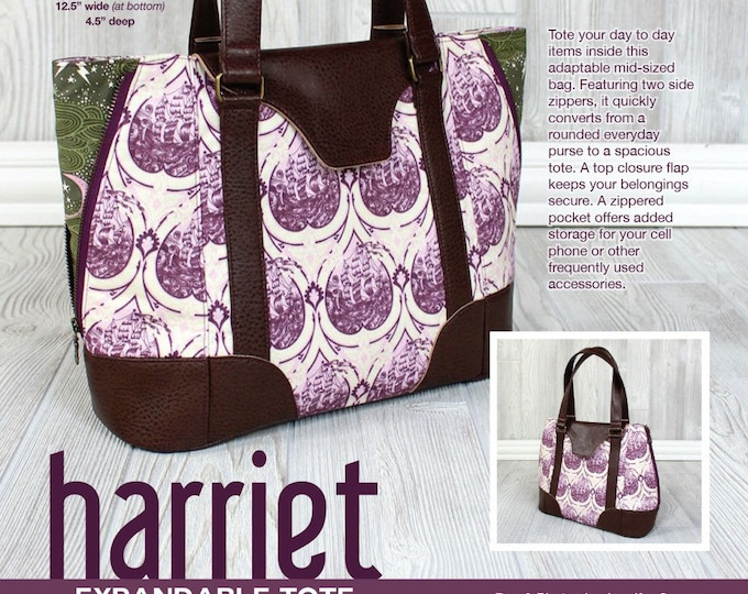 Harriet Expandable Tote - Swoon Patterns - Bag Pattern