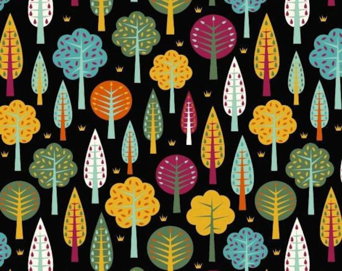 Daydream by Blank Quilting - Trees Black - Cotton Woven Fabric