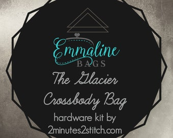 The Glacier Crossbody Bag - Emmaline Bags - Hardware Kit by 2 Minutes 2 Stitch