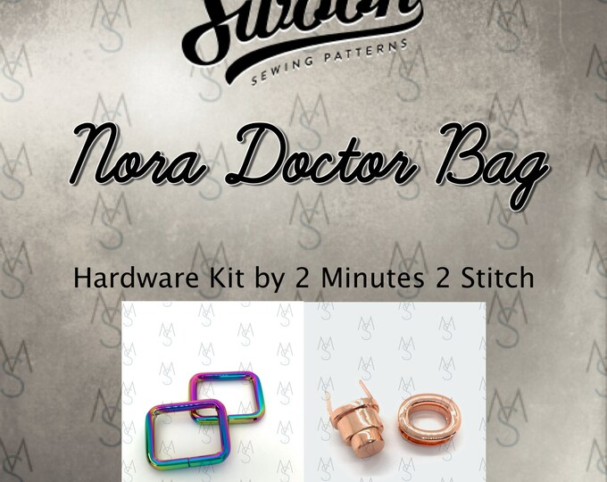 Nora Doctor Bag - Swoon Patterns - Swoon Hardware Kit - Nora Hardware - Bag Hardware Kit - by 2 Minutes 2 Stitch