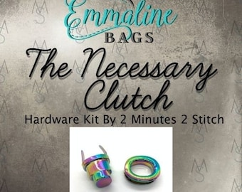 The Necessary Clutch Wallet - Emmaline Bags - Hardware Kit by 2 Minutes 2 Stitch