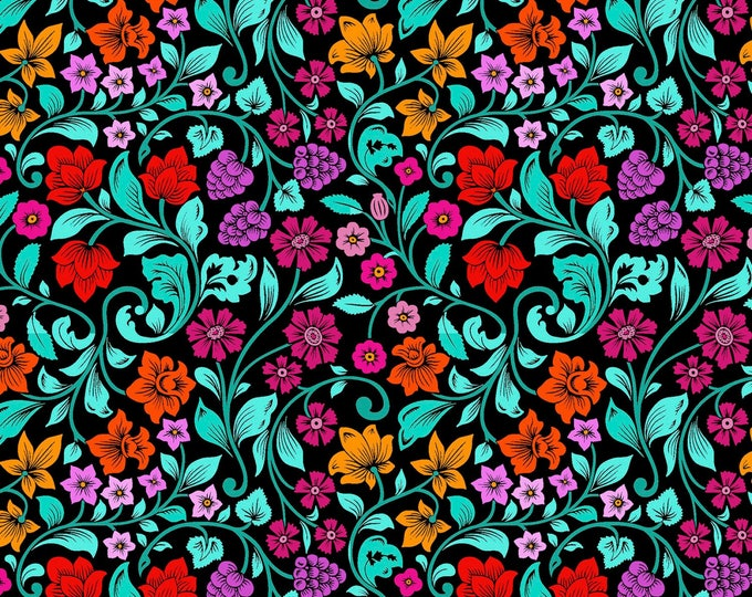 Flower Power by Patrick Lose - Groovy Garden - Cotton Woven Fabric