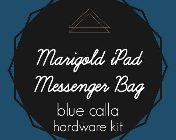 Marigold iPad Messenger Bag - Blue Calla Hardware Kit - Swivel Clips, D-Rings