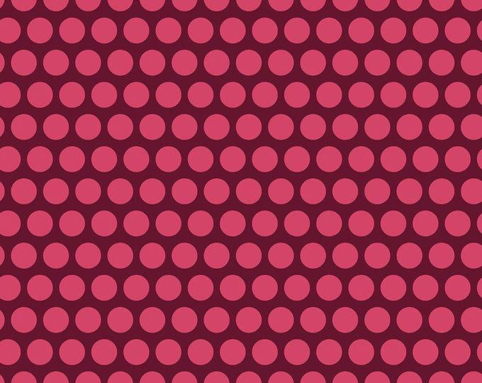 Dot Crazy by Benartex - Large Dot Burgundy - Cotton Woven Fabric