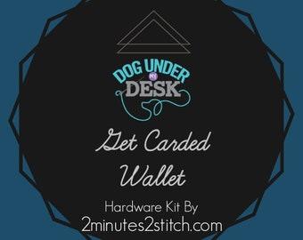 Get Carded Wallet - Dog Under My Desk - Hardware Kit