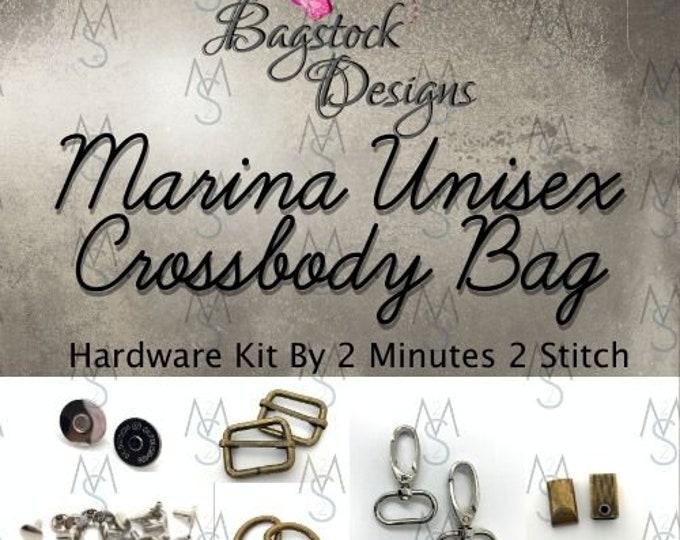 Marina Unisex Crossbody Bag - Bagstock Designs - Hardware Kit Only