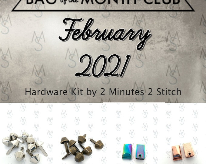 Bag of the Month Club - February 2021 Hardware Kit - Sewing Patterns by Mrs H - Samantha Hussey