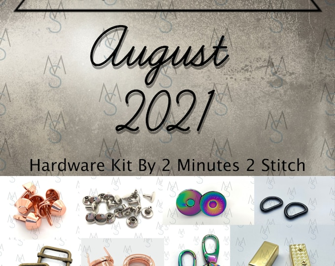 August 2021 Hardware Kit - Bag of the Month Club - Emmaline Bags - Janelle MacKay